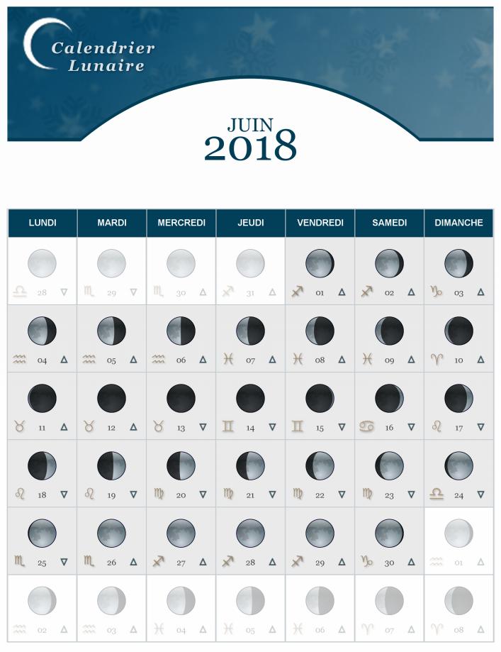 Calendrier Lunaire Du Mois De Juin 2018 The Lucky Cath Concept